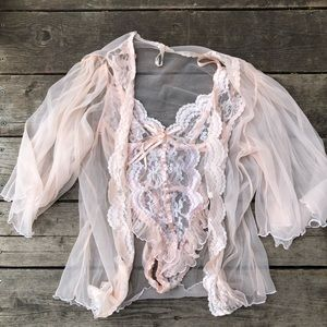 Christian Dior peachy/pink vintage lingerie set
